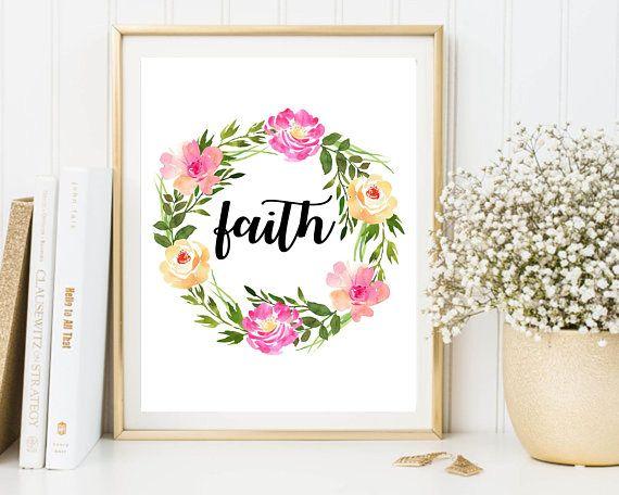 Faith Wall Art Hope Love Printable