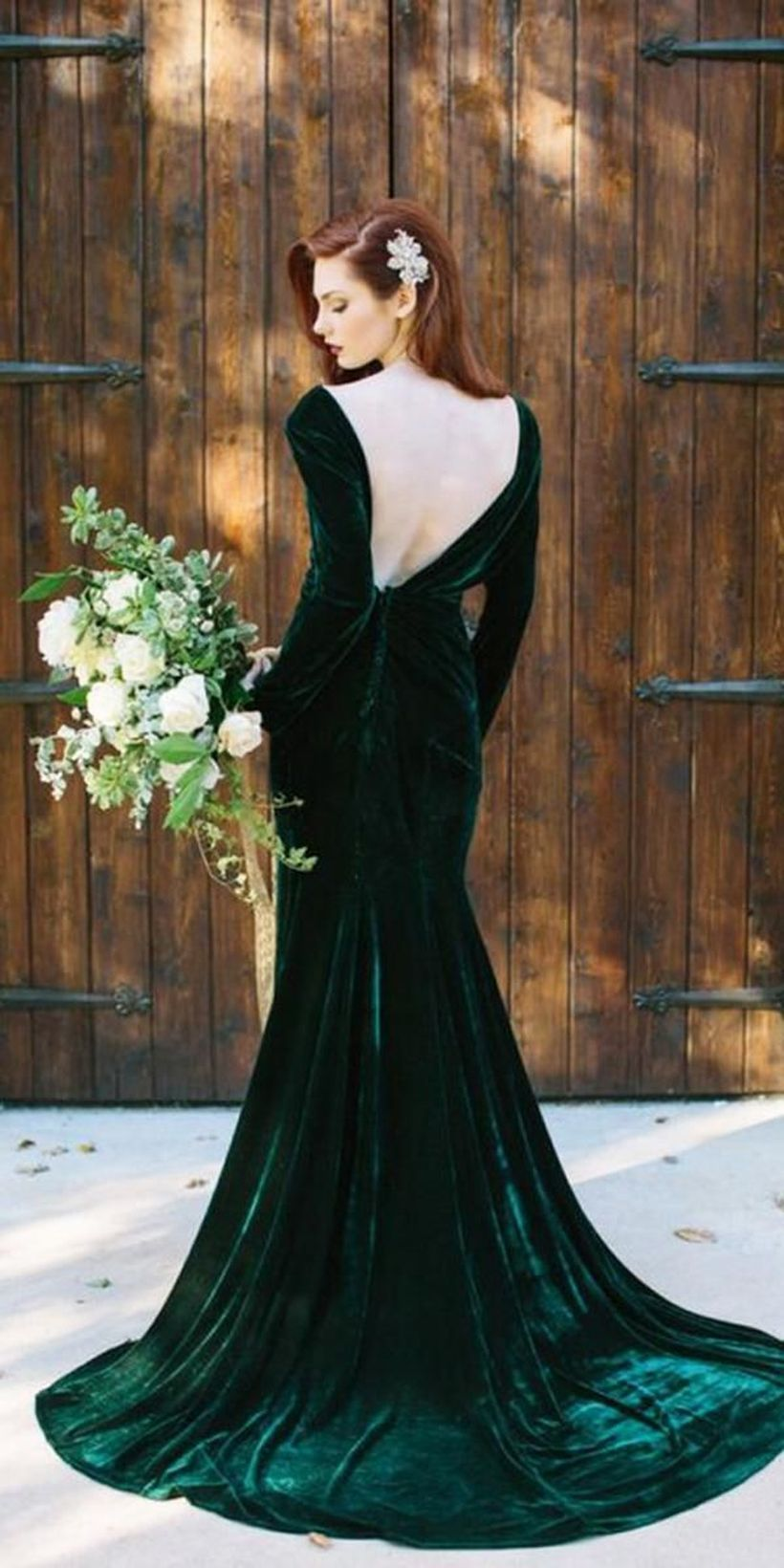 57 outstanding christmas wedding dresses to inspire | green