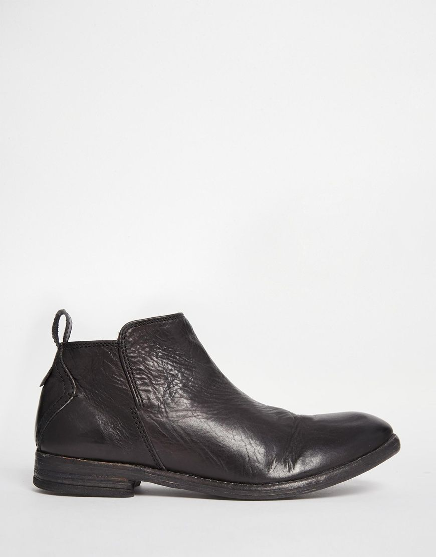 Buy Women Shoes / H By Hudson Revelin Lo Black Leather Ankle Boots