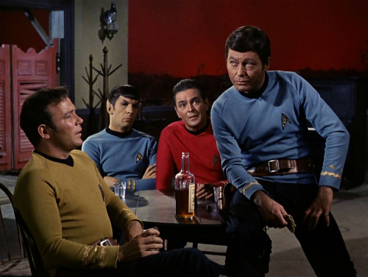 Image result for kirk spock mccoy scotty
