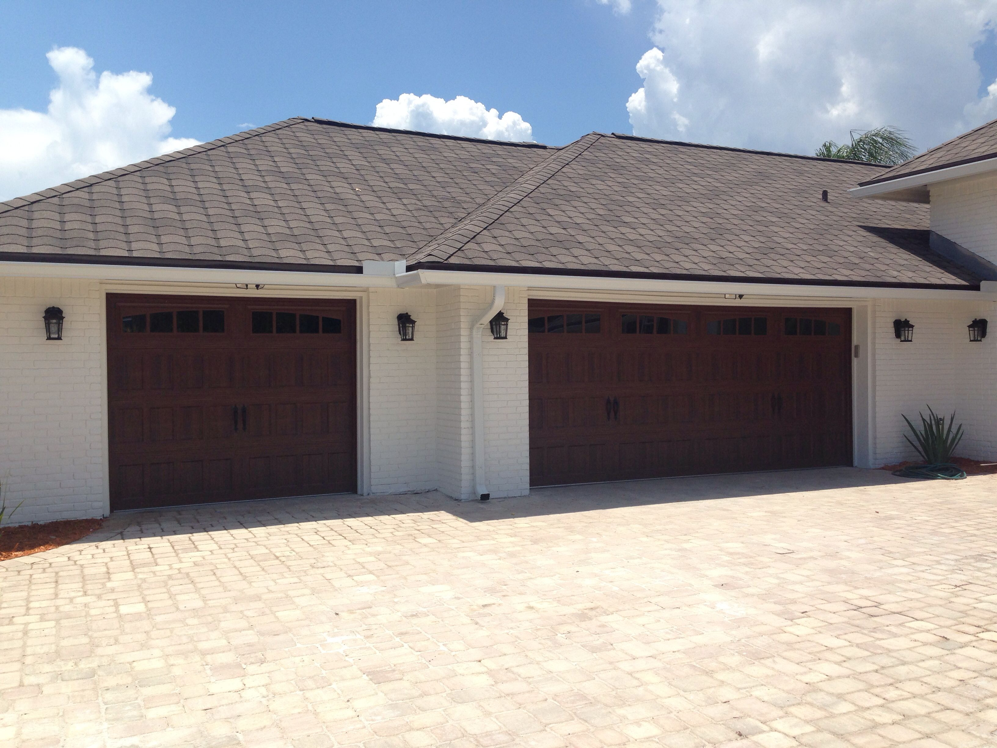 Amarr Oak Summit Garage Doors amarr oak summit 3000 garage door installed in ponte vedra beach