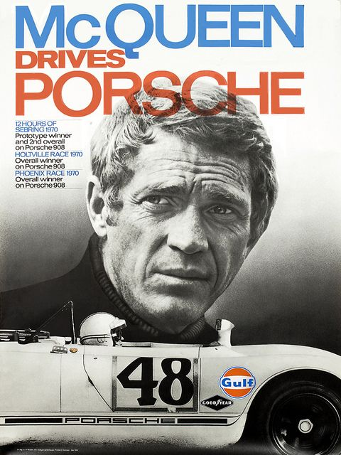 Car Poster! Porsche Street// Race History Amazing and a Fantastic Buy