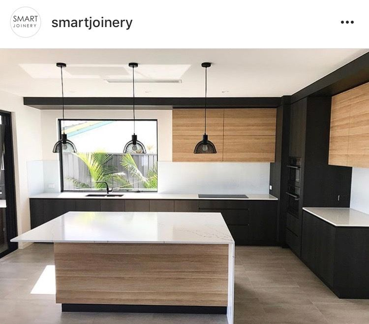 Black White And Wood Modern Black Kitchen Interior Design Kitchen Small Modern Kitchen Design