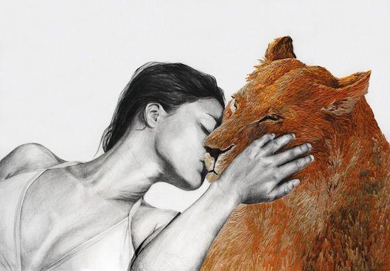 Animales Familiares de Ana Teresa Barboza, una artista plástica peruana que teje universos humanamente salvajes en sus creaciones. | http://anateresabarboza.blogspot.com.es/