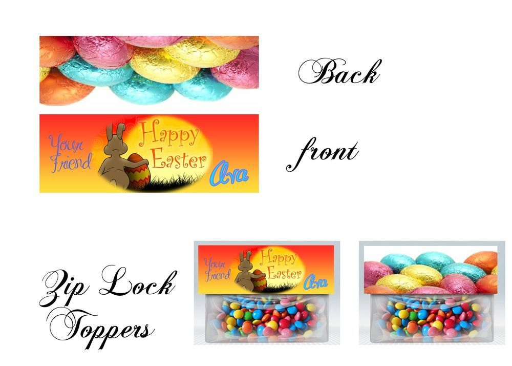 Easter zip lock toppers easter treat bag topper easter easter zip lock toppers easter treat bag topper easter invitations gift tags negle Image collections