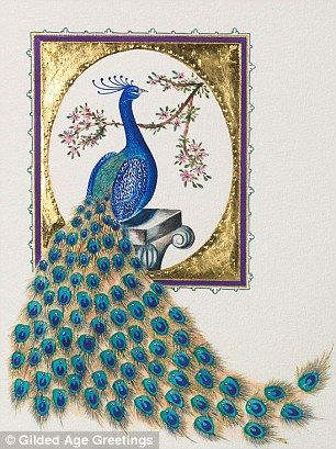 All i want for christmas is a card the 5000 paper greeting opulent greetings this limited edition peacock greeting card with swarovski crystals sells for 425 m4hsunfo