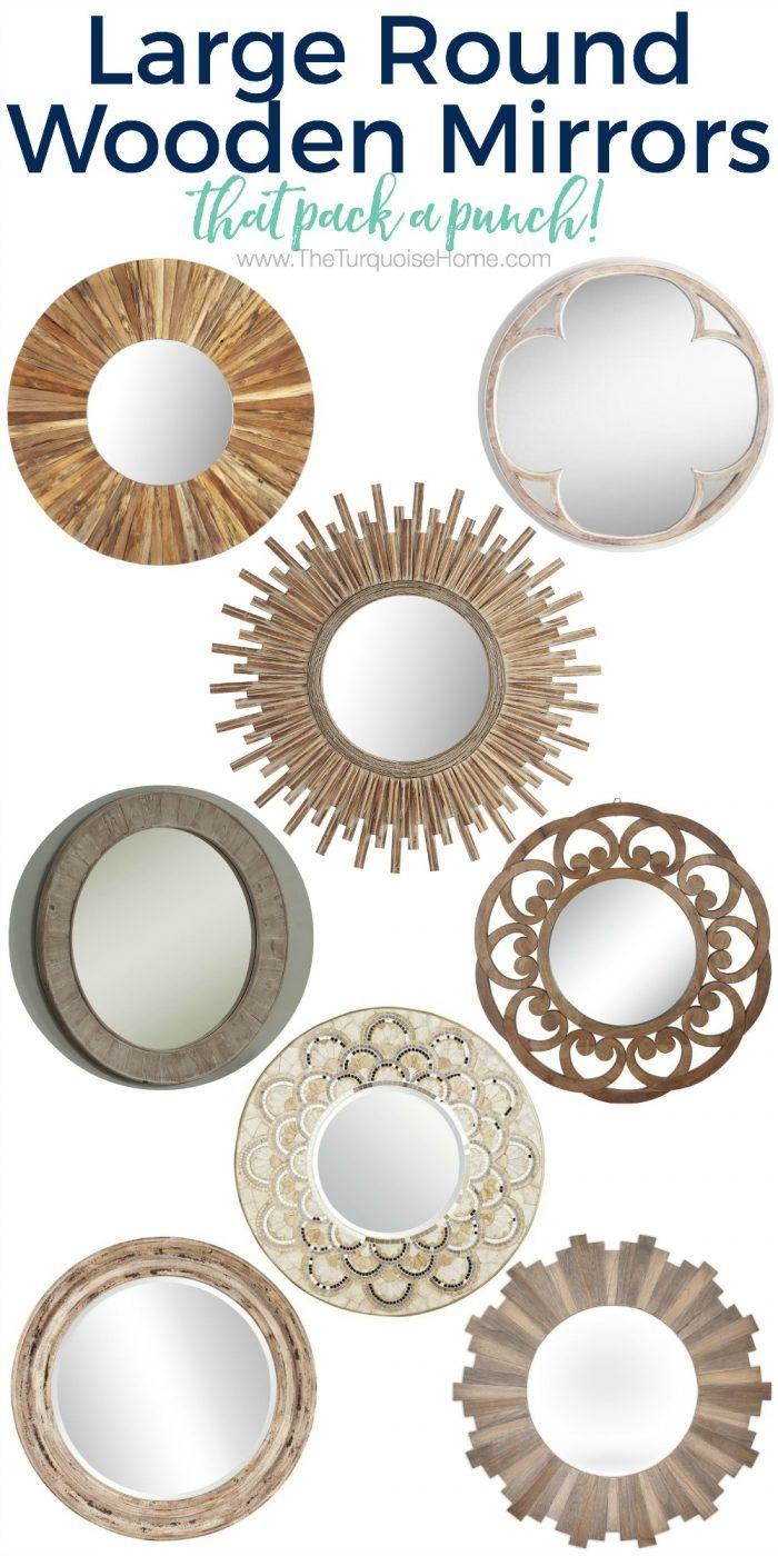 10 Large Round Mirrors We Love Large Round Mirror Round Wooden Mirror Round Mirrors
