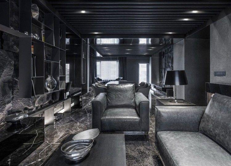 Wohnzimmer in Grau und Schwarz gestalten \u2013 50 Wohnideen mit dunklen - wohnzimmer dekorieren schwarz