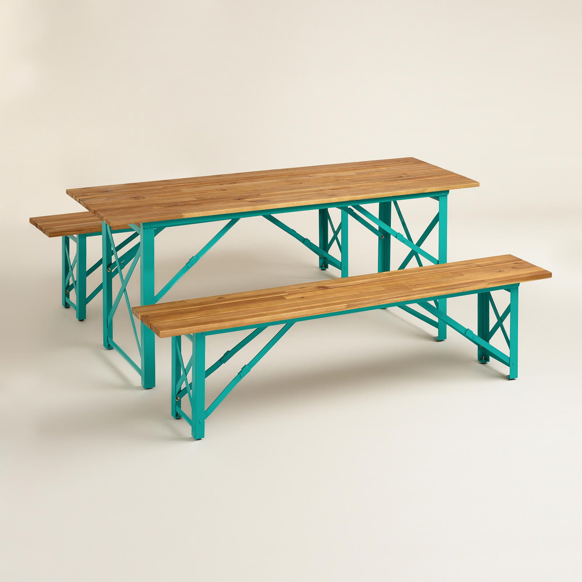 Blue Beer Garden Dining Table
