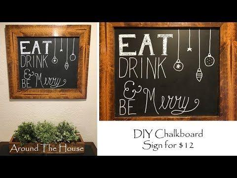 DIY Chalkboard Sign For 12