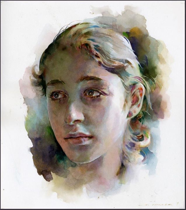 Best Watercolor Portraits By Famous Artists Retrato Acuarela