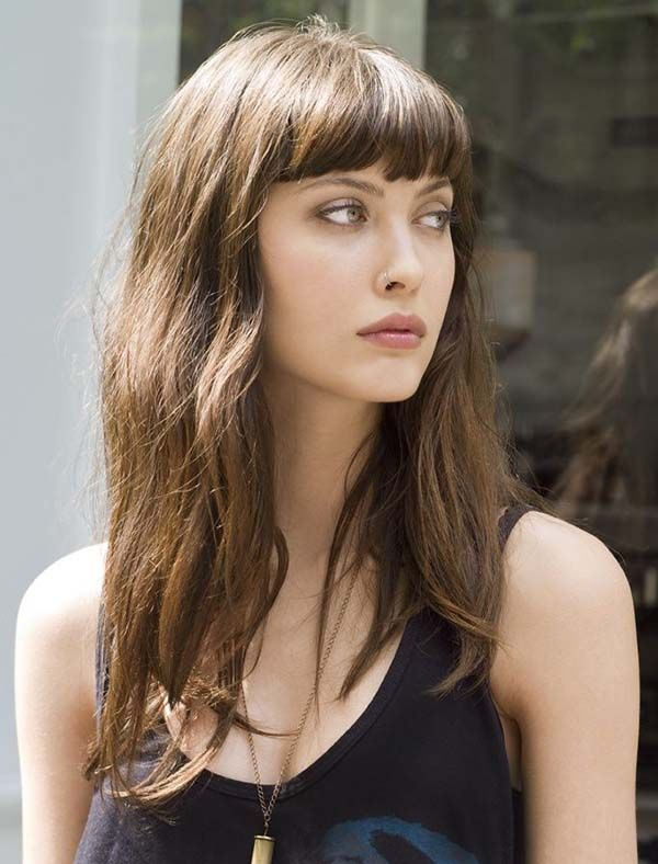 Hairstyles With Really Short Bangs Hairstyle Ideas Long Hair With Bangs Long Hair Styles Hairstyles With Bangs