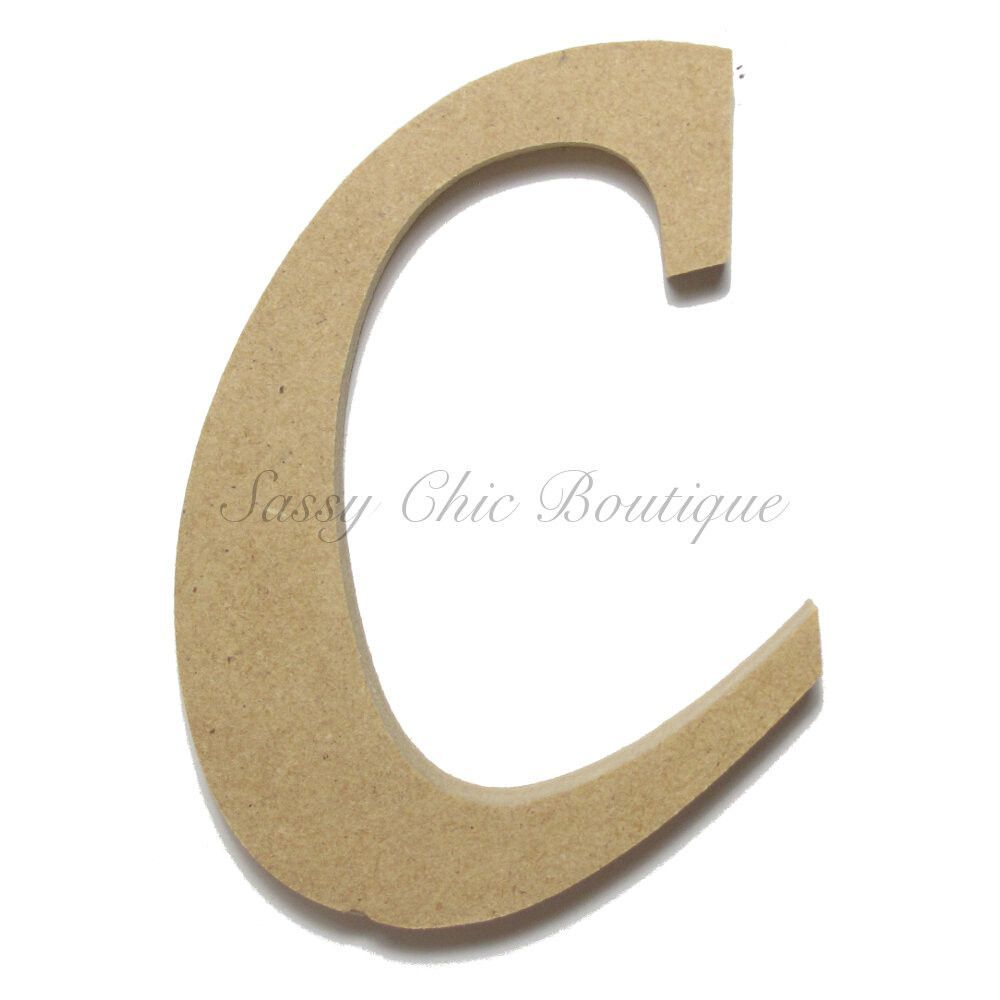 unfinished wooden letter lowercase c lucida calligraphy font
