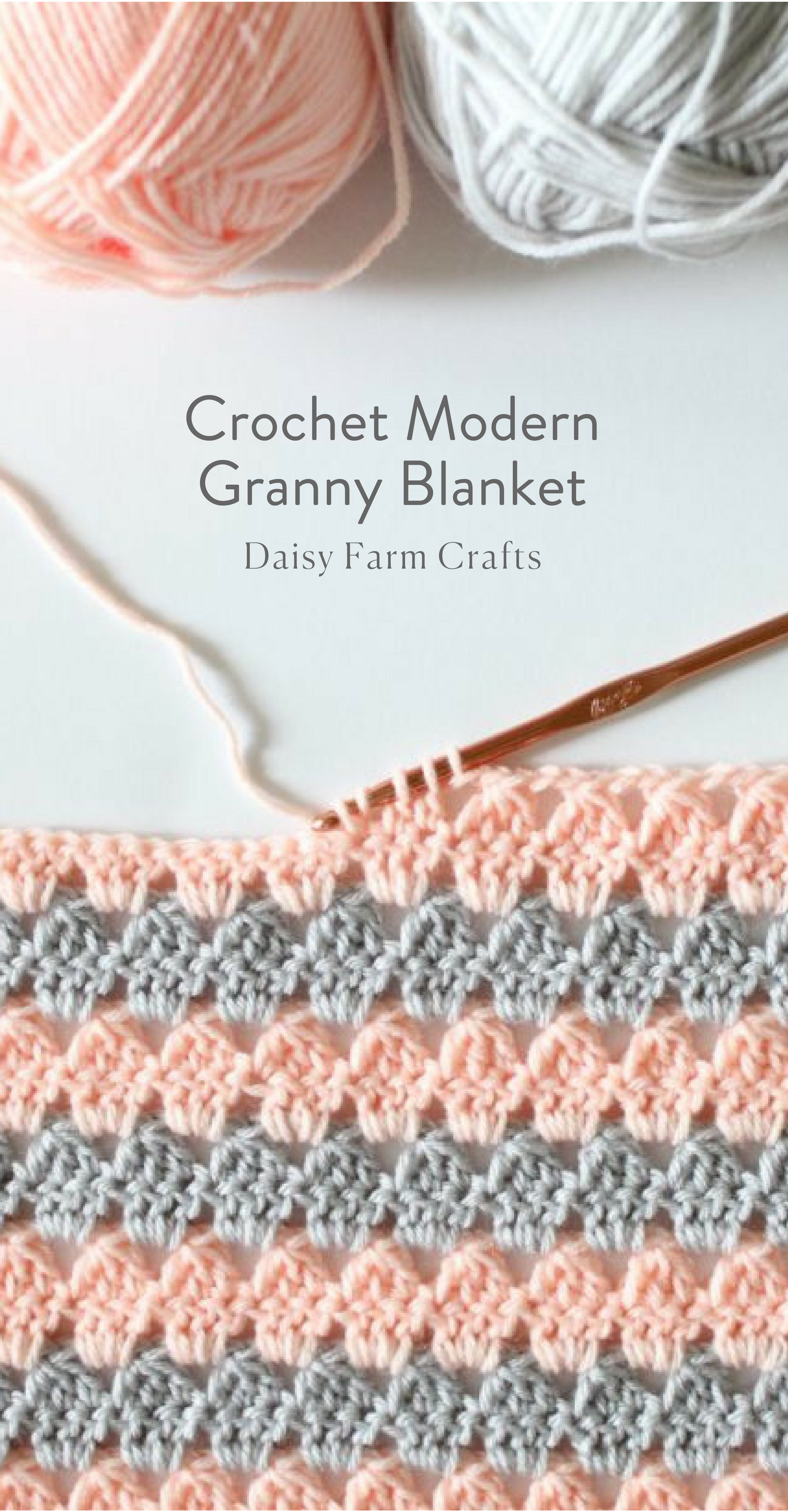 Free Pattern - Crochet Modern Granny Blanket | Ideas | Pinterest ...