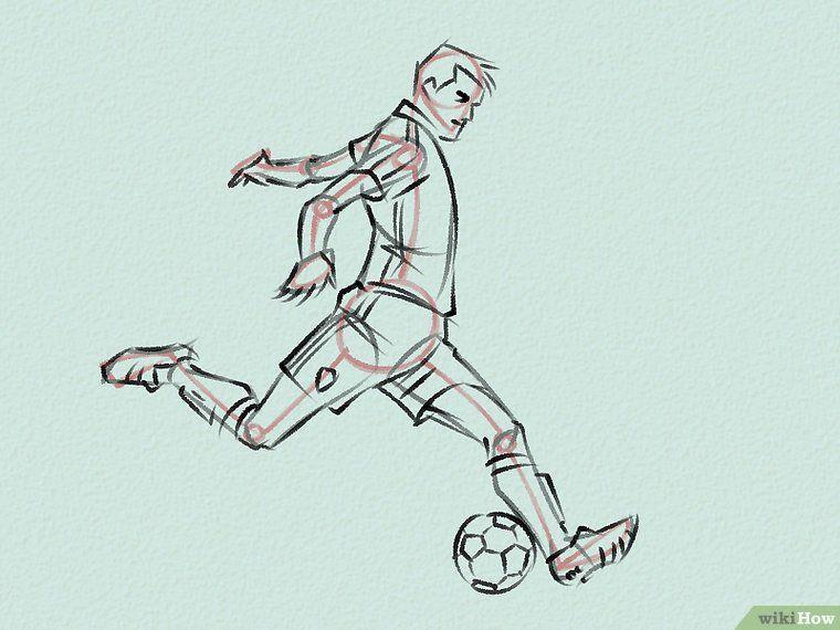 Draw Soccer Players Dibujos Dibujos de futbol, Poses
