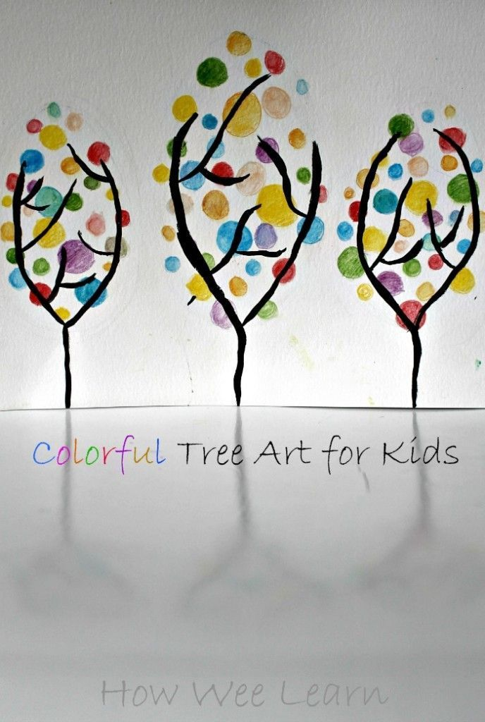 Such A Pretty And Colorful Spring Art Project For Kids These Beautiful Trees Are So Simple Great Craft