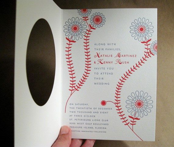 Baseball Letterpress Invitations by Byvik Ink w e d d i n g