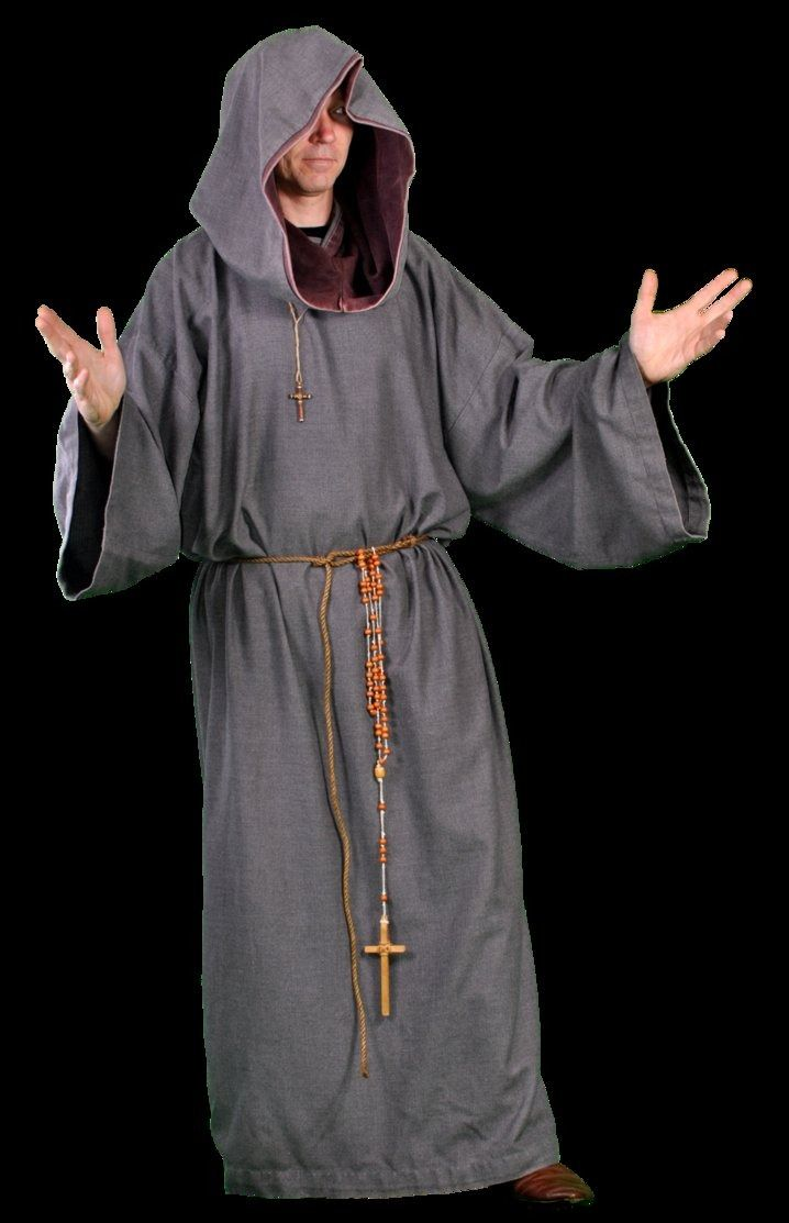 Monk Costume Mens Friar Tuck Medieval Robe Fast Big and Tall XL Plus Size
