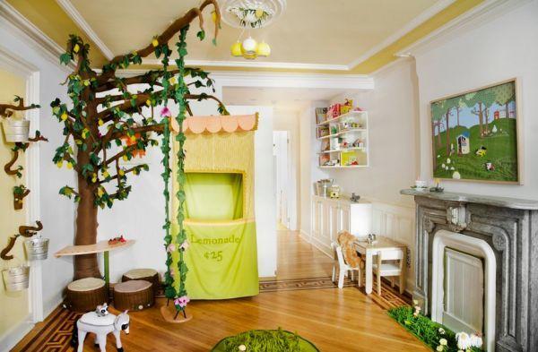 Wohnzimmer einrichten ~ Spielecke im wohnzimmer einrichten kletterbaum wohnen