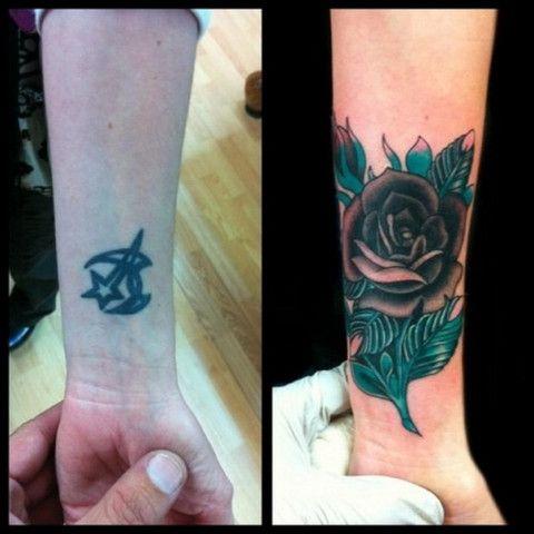 54e97ee7cb00 10 Amazing Wrist Tattoo Cover-Ups  Before   After – Strepik Temporary  Tattoos
