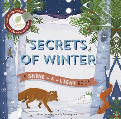 """This addition to the Shine-a-Light series features hidden woodland animals that readers can see by holding a flashlight to the pages. Brown describes the habitat and animals that live there using a gentle question-and-answer format: """"The lake is frozen, but something is moving under the ice. Can you see anything?"""" When readers turn the page, they see the b&w image that was revealed by shining the light (""""Most fish lie near the bottom of the lake. The water is warmer here"""").  Gr. K-2"""