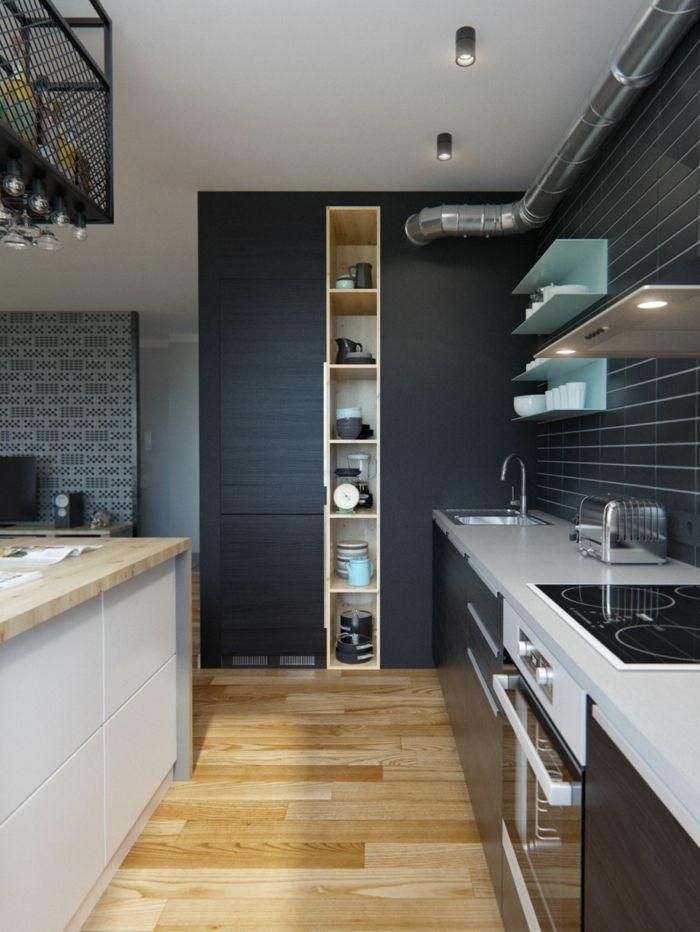 Wandfarbe Küche Wände Streichen Ideen Küche Graue Wandfarbe Wandfliesen  Offene Wandregale