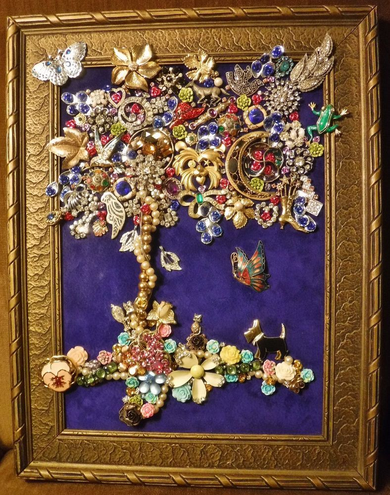 0ed42a577877 Jewelry Art Tree of Life, just full of Sparkle, signed by Artist, | Art, Mixed  Media Art & Collage Art | eBay!