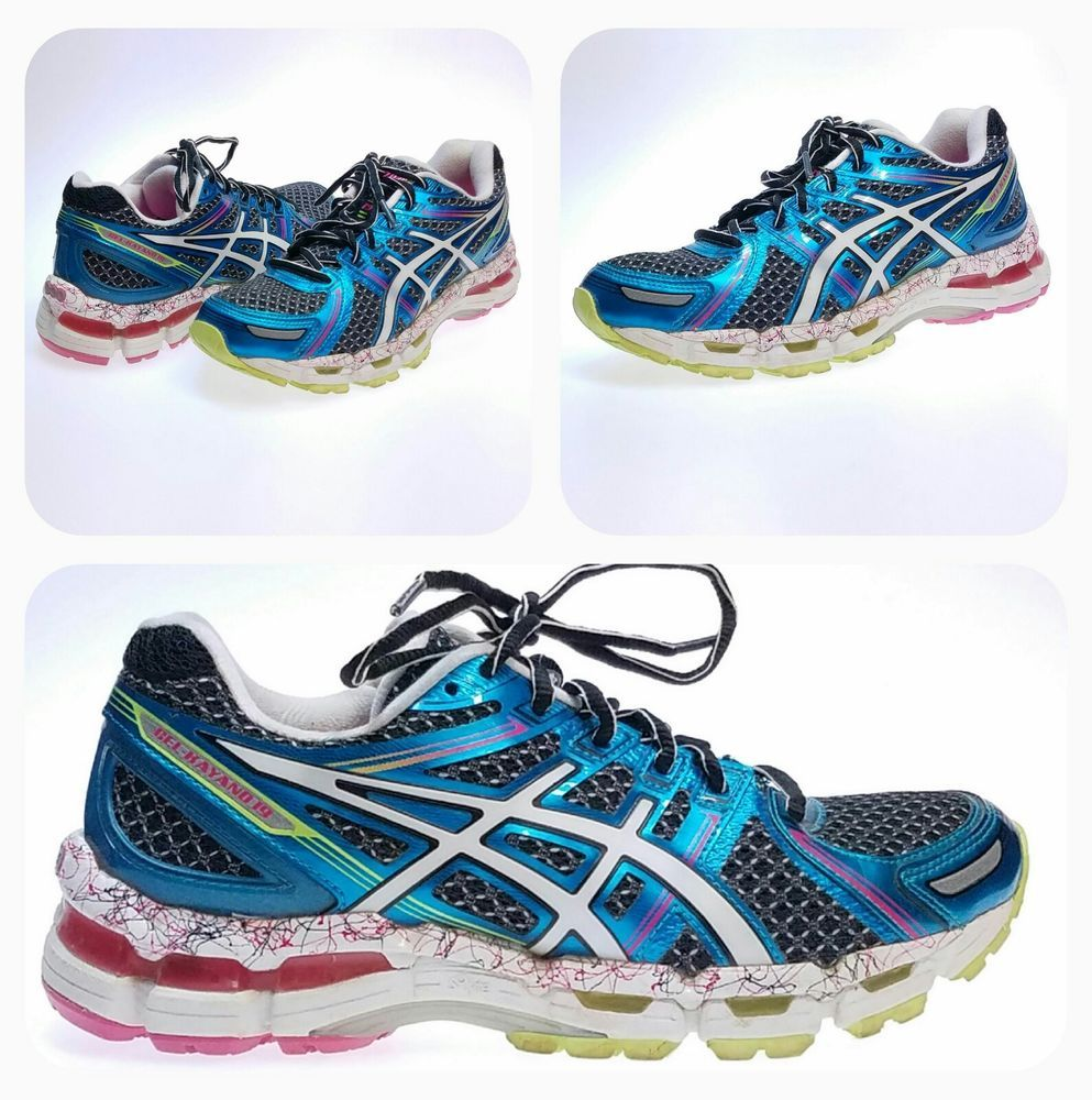 Asics Gel Kayano 19 Women S Sz 7 Running Shoes Teal Green Pink Rare Color T392n Asics Runningcrosstraining Asics Gel Kayano 19 Asics Teal Green
