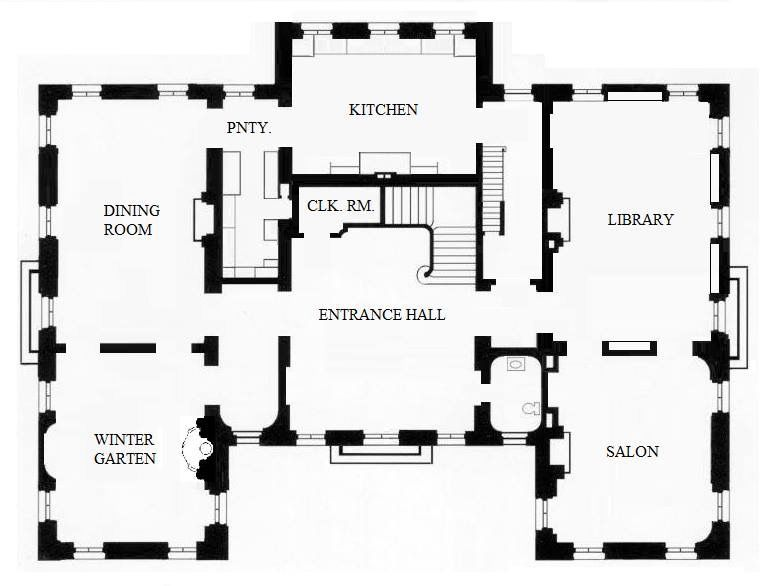 I Could Live With This Mansion Floor Plan New House Plans Vintage House Plans