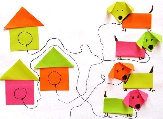 Оригами для малышей «Щенок» | Детские творческие проекты ...