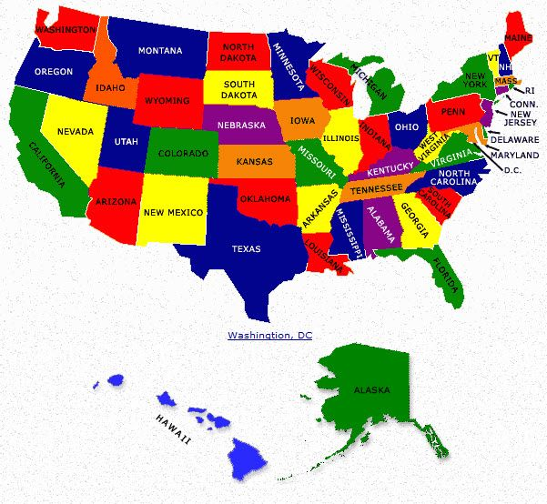50 States of the United States of America usa map unitedstates