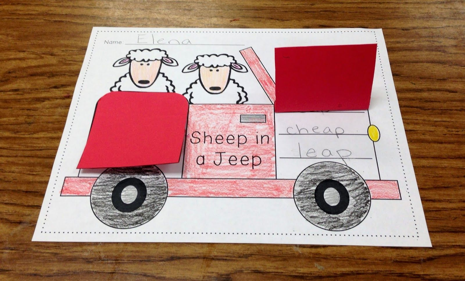 Fun On The Farm Sheep In A Jeep