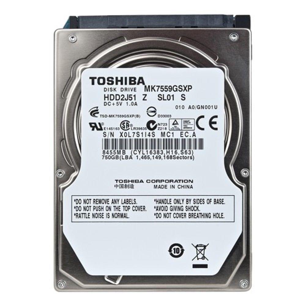 Toshiba 750GB SATA 5400RPM 8MB 2.5 Hard Drive Internal