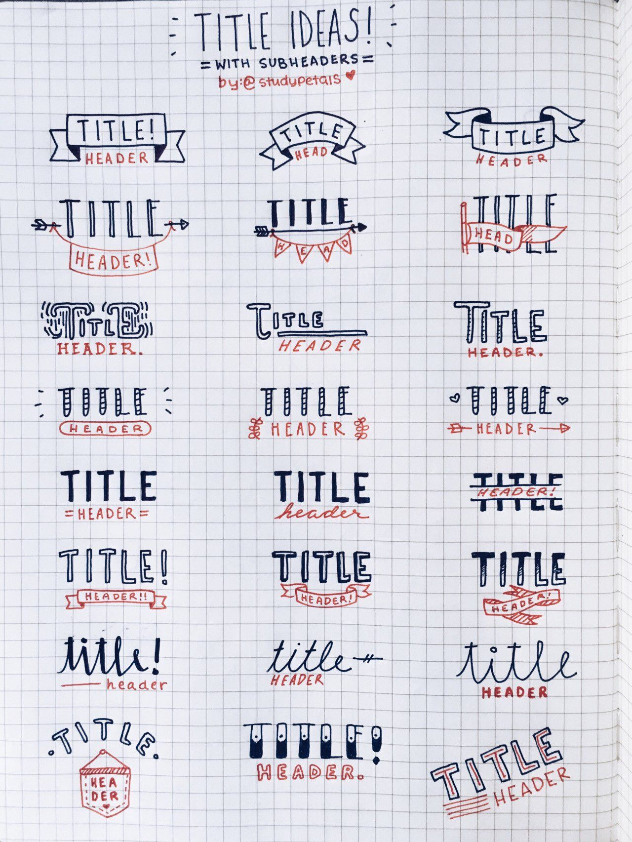 Bullet Journal Titles