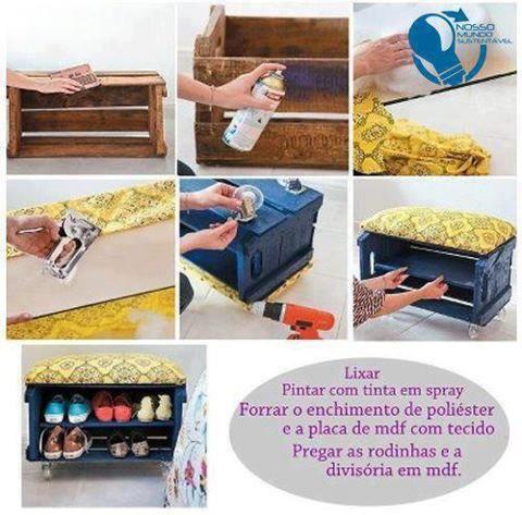 Huacal hogar ideas pinterest huacal reciclado y hogar - Hogar del mueble ingenio ...