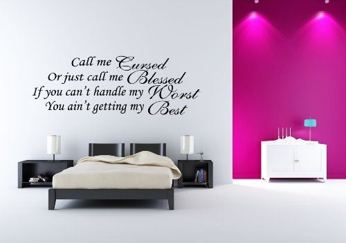 Marilyn Monroe Wall Decals: Call Me Cursed Or Just Call Me Blessed. If You