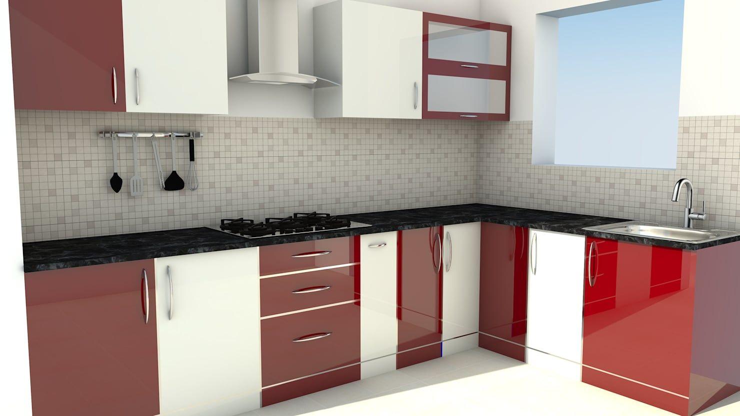 Modular L Shape Kitchen Without Loft Kitchen By Servicebell Solutions Pvt Ltd Latest Kitchen Cabinet Design Kitchen Modular L Shaped Kitchen