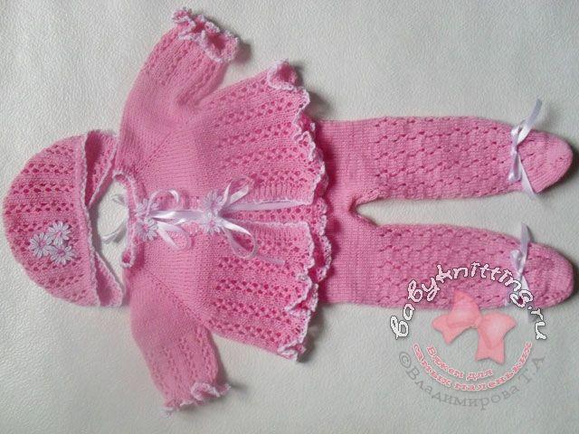 Вязание новорожденным ползунки спицами