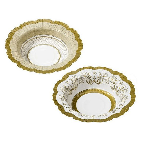 24 x Gold /& White Paper Doilies golden Wedding 50th Anniversary Tea Party