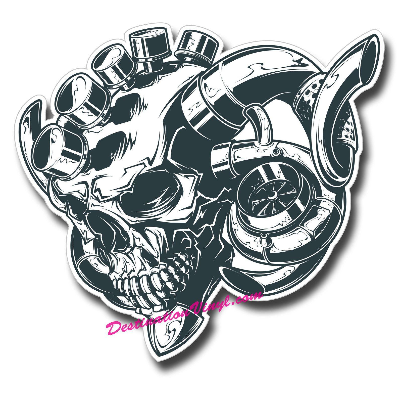 Turbo P Harley: Turbo Skull Car Engine JDM