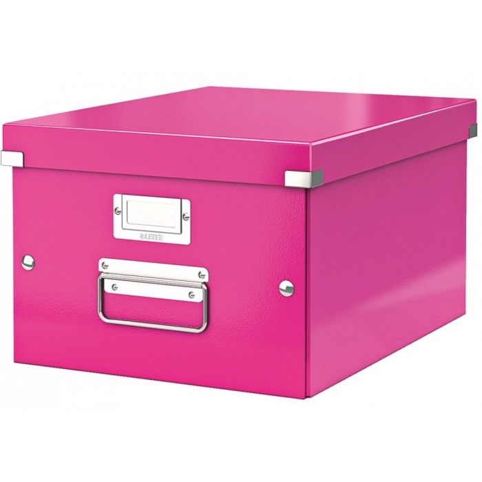 Leitz CLICK & STORE Archiv Box mittel DIN A4 pink LE2395 60440023
