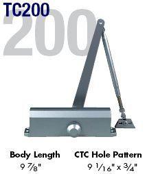 Global Door Controls Tc201 Al Door Closer Adjustable Sizes 1 4 Aluminum Finish By Global 52 00 Door Closer Door Fittings Door Dividers Sliding Wall