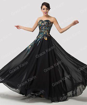 Peacock Long Prom Dresses