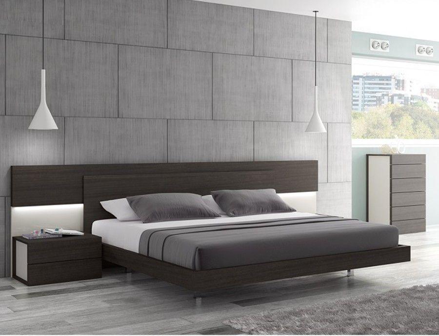 Best J M Maia Wenge Premium Queen Platform Bed With Headboard 640 x 480