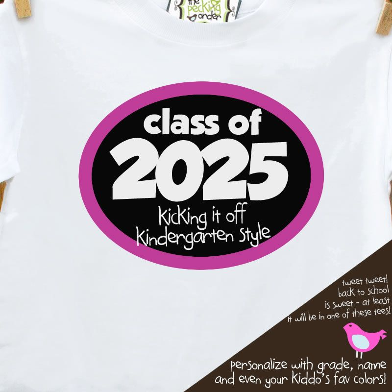 Back To School Shirt Class Of Any Year Personalized Girl Back To