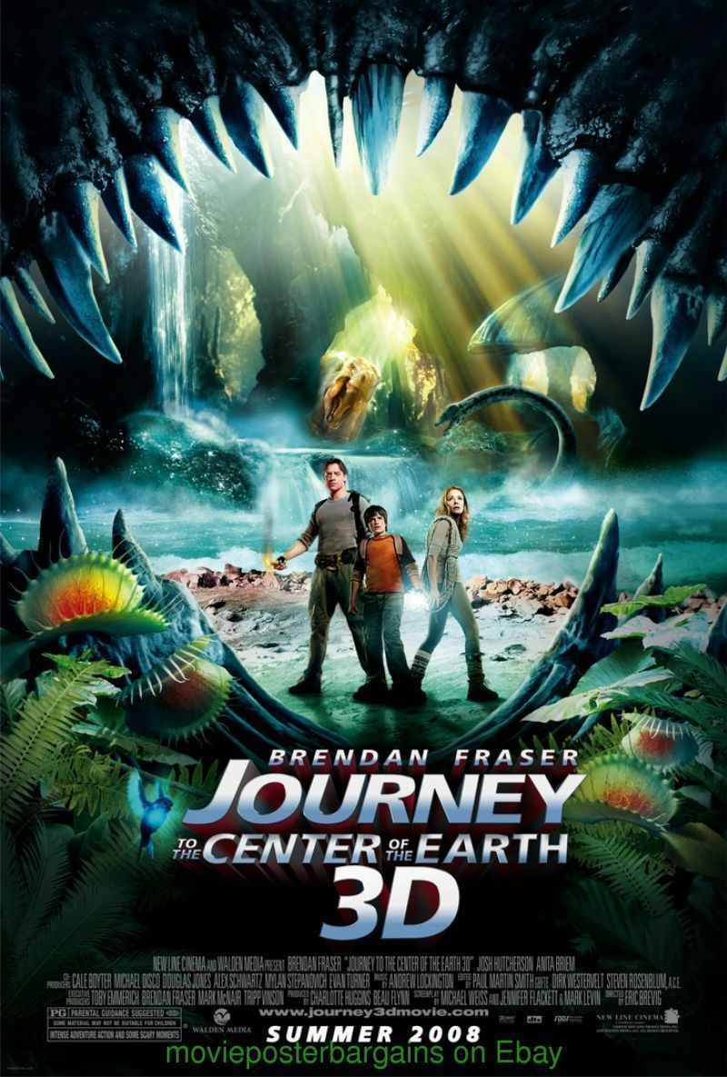 JOURNEY TO THE CENTER OF THE EARTH MOVIE POSTER DS 27x40 ADVANCE ...