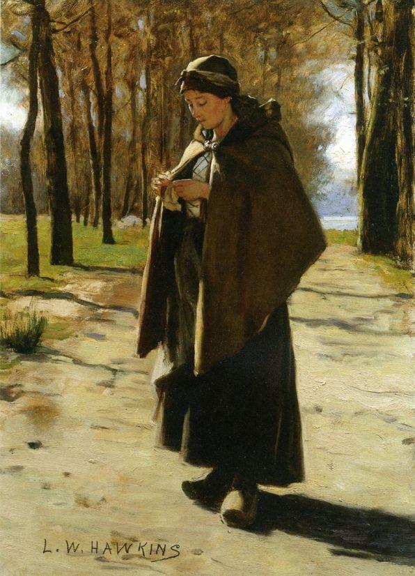 A Young Peasant, Hawkins Louis Welden. (1849-1910)