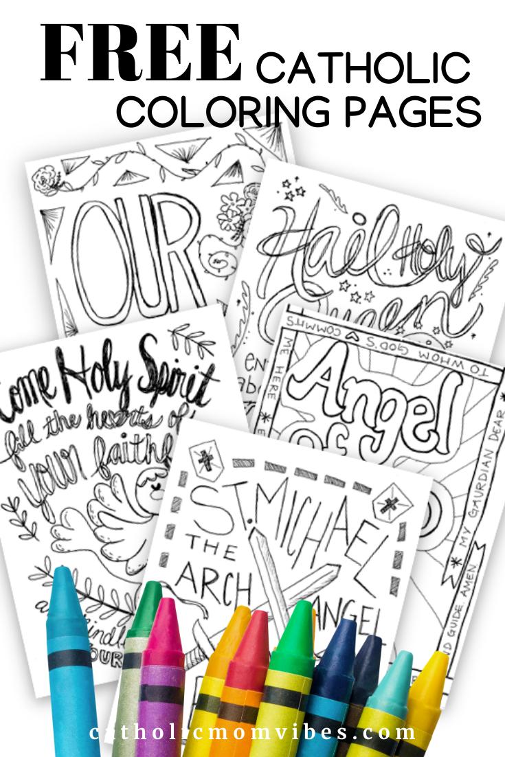 Free Catholic Coloring Pages Catholic Mom Vibes In 2020 Catholic Kids Activities Catholic Kids Crafts Catholic Coloring