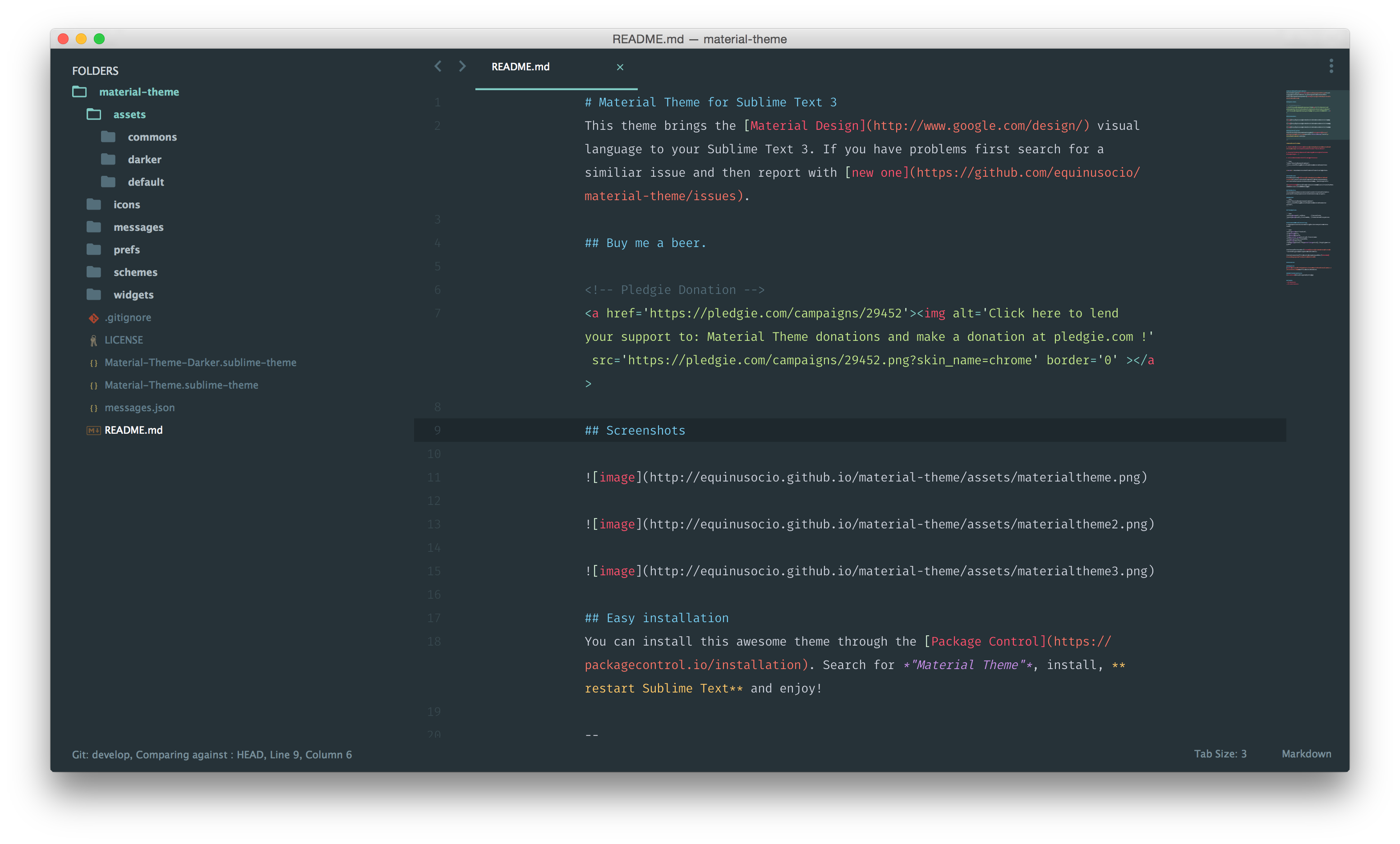 Material Theme for sublime text (With images) Sublime