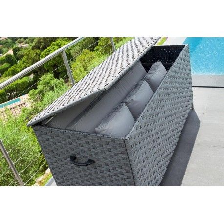 Nouvel Coffre de rangement Bayana Gris Hespéride | Terrasse & Jardin UV-84
